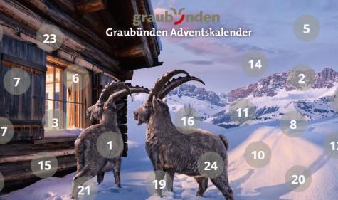 Tolle Adventspreise jeden Tag bei Graubünden gewinnen