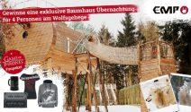 Eine Baumhaus Übernachtung für 4 Personen + GoT Fanpaket gewinnen