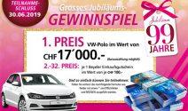 Einen VW-Polo im Wert von CHF 17'000.- oder Beyeler Gutschein gewinnen