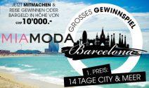 Reise nach Barcelona oder CHF 10'000.- in bar gewinnen