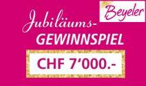 Beyeler Gutscheine im Gesamtwert von CHF 7'000.- gewinnen