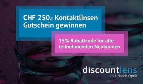 Einen Discountlens Gutschein im Wert von CHF 250.- gewinnen