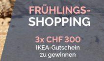 3x einen IKEA Gutschein im Wert von je CHF 300.- gewinnen