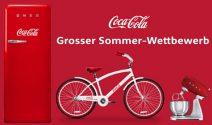 Coca-Cola Kühlschrank, Velo und Küchenmaschine gewinnen
