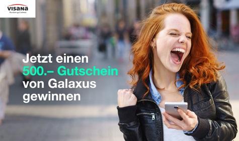 Einen Galaxus Gutschein im Wert von CHF 500.- gewinnen