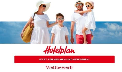 Einen Hotelplan Gutschein im Wert von CHF 3'000.- gewinnen