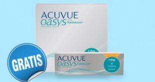 Jetzt gratis Acuvue Oasys 1-Day Probepackung bestellen