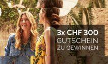 3x einen CECIL Gutschein im Wert von je CHF 300.-