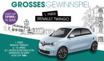 Einen Renault Twingo oder CHF 10'000.- in bar gewinnen