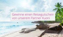 KUONI Reisegutscheine im Wert von CHF 1'000.-gewinnen