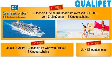 Eine CruiseCenter Kreuzfahrt oder Kinogutscheine gewinnen