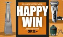 Heizstrahler, Grill oder Rasierer + CHF 20.- Gutschein als Sofortpreis gewinnen