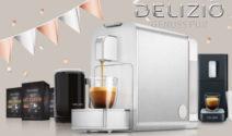 15x eine Delizio Viva Elegante Kaffeemaschine im Wert von je CHF 500.- gewinnen