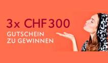 3x einen Street One Gutschein im Wert von je CHF 300.- gewinnen