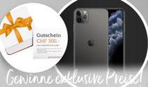 Ein iPhone 11 Pro Max und einen geschenkidee.ch Gutschein gewinnen