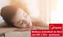 Eine Wellness-Auszeit im Wert von CHF 2'500.- gewinnen