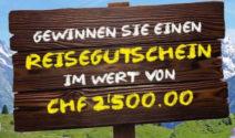 Einen Hotelplan Reisegutschein im Wert von CHF 2'500.- gewinnen