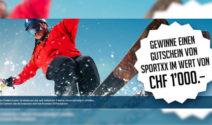 Einen SportXX Gutschein im Wert von CHF 1'000.- gewinnen