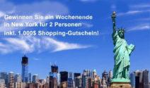 Ein Wochenende in New York + einen 1.000$ Gutschein bei Geno Media Circle GmbH gewinnen