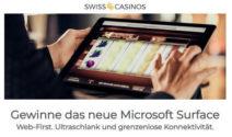 Neue Microsoft Surface Pro X bei Swiss Casinos gewinnen
