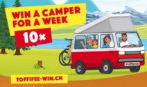 Ein Camper VW California Beach bei Toffifee gewinnen