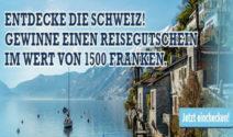 Einen Reisegutschein im Wert von CHF 1500.- bei Swiss Casinos gewinnen!